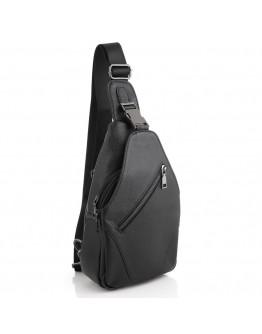 Черная мужская сумка - слинг M7408A