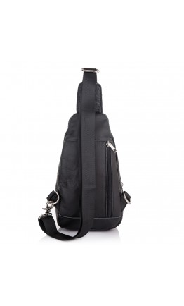 Мужской черный кожаный слинг Vintage M8213A