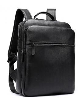Кожаный мужской черный рюкзак M8388A