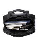 Фотография Кожаный мужской черный рюкзак M8388A