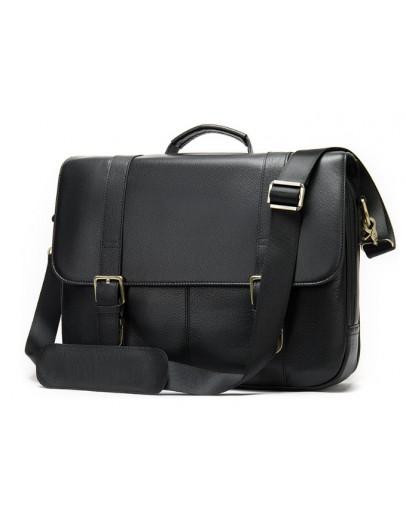 Фотография Мужской кожаный черный портфель M8580A