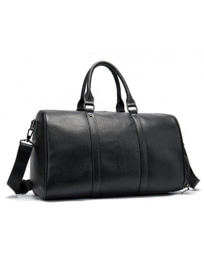 Фотография Черная кожаная сумка для командировок M8706A