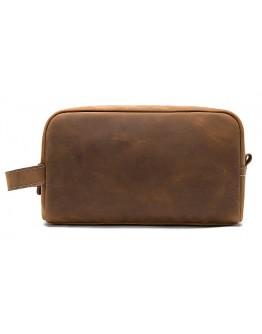 Коричневый мужской винтажный несессер - клатч M8840R
