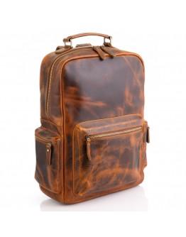 Винтажный вместительный кожаный рюкзак M8873Q