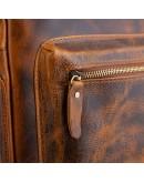 Фотография Винтажный вместительный кожаный рюкзак M8873Q