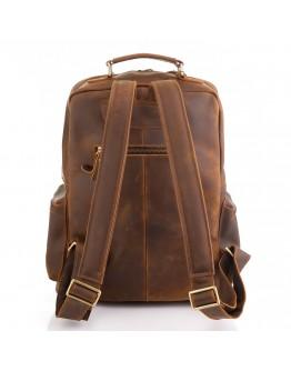 Винтажный вместительный коричневый кожаный рюкзак M8873R