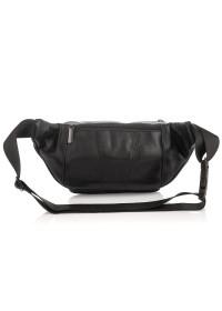 Черная кожаная сумка на пояс - бананка Tiding M8879A