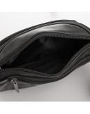 Фотография Черная кожаная сумка на пояс - бананка Tiding M8879A