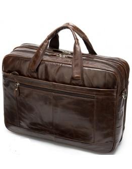 Мужской кожаный вместительный портфель - сумка M8911C