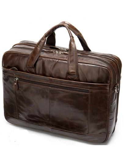 Фотография Мужской кожаный вместительный портфель - сумка M8911C