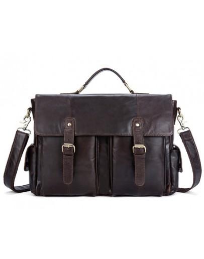 Фотография Коричневый портфель из мягкой кожи M8942C