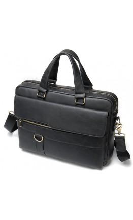 Черная сумка кожаная для документов M8967A