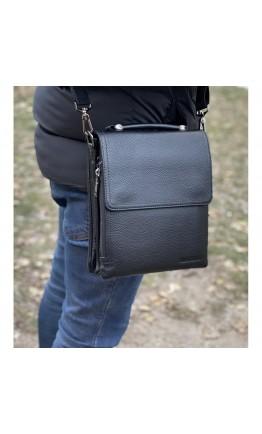 Черная кожаная сумка - барсетка Marco Coverna mc0403-4