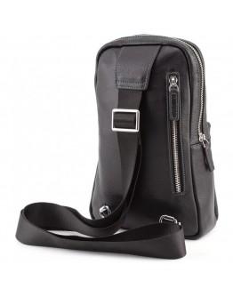 Черный кожаный рюкзак слинг Marco Coverna MD 6636 black