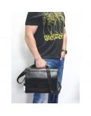 Фотография Удобная горизонтальная черная кожаная сумка А4 VATTO MK106 F8KAZ1