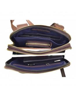 Мужская сумка коричневая винтажная кожаная VATTO MK114 KR450