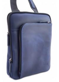 Мужская сумка синяя винтажная кожаная VATTO MK114 KR600