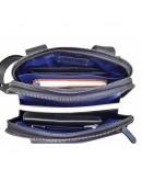 Фотография Мужская сумка синяя винтажная кожаная VATTO MK114 KR600