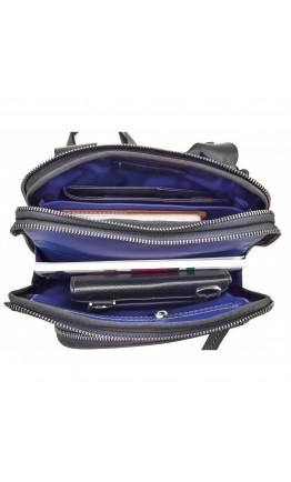 Мужская сумка черная винтажная кожаная VATTO MK114 KR670