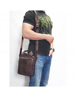 Мужская коричневая сумка барсетка VATTO MK115 KAZ400