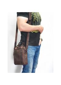 Мужская коричневая сумка - барсетка среднего размера VATTO MK115 KR450