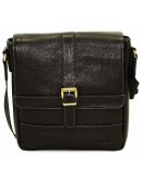 Фотография Черная сумка на плечо в коже флотар VATTO MK17 F8KAZ1