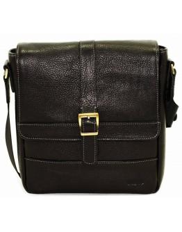 Черная сумка на плечо в коже флотар VATTO MK17 F8KAZ1