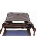 Фотография Коричневая мужская кожаная сумка на плечо VATTO MK17 KAZ400