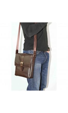 Коричневая мужская кожаная сумка на плечо VATTO MK17 KAZ400