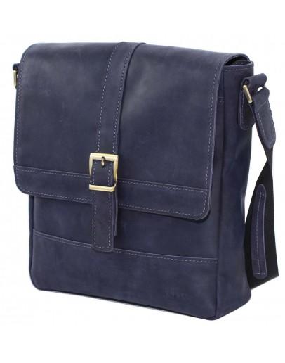 Фотография Мужская кожаная сумка синяя винтажная VATTO MK17 KR600