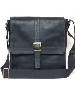 Черная мужская винтажная кожаная сумка VATTO MK17 KR670