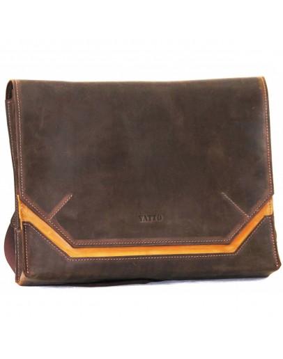 Фотография Оригинальная винтажная коричневая кожаная сумка А4 VATTO MK21 KR450.190