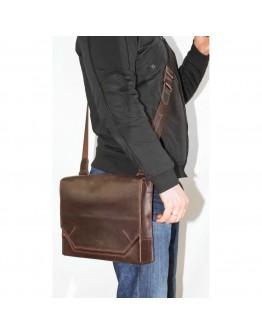 Удобная винтажная коричневая кожаная сумка А4 VATTO MK21 KR450