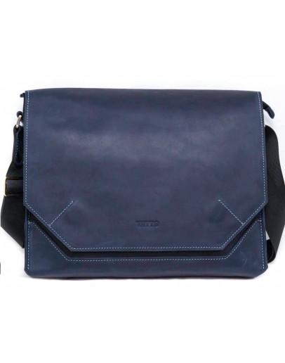 Фотография Удобная винтажная синяя кожаная сумка А4 VATTO MK21 KR600