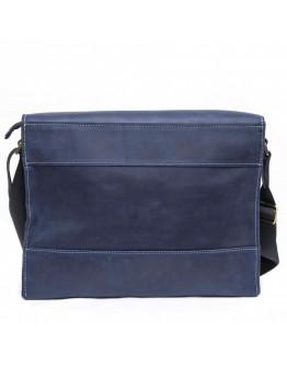 Удобная винтажная синяя кожаная сумка А4 VATTO MK21 KR600