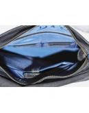 Фотография Удобная винтажная черная кожаная сумка А4 VATTO MK21 KR670