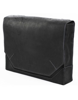 Удобная винтажная черная кожаная сумка А4 VATTO MK21 KR670