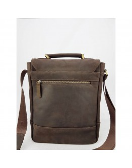 Коричневая мужская винтажная кожаная сумка - барсетка VATTO MK28.2 KR450