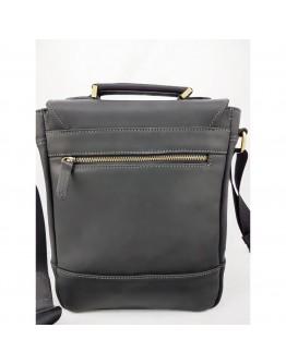 Черная мужская винтажная кожаная сумка - барсетка VATTO MK28.2 KR670