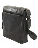 Фотография Черный мужской винтажный кожаный мессенджер VATTO MK33.21 KR670