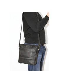 Черный мужской винтажный кожаный мессенджер VATTO MK33.21 KR670