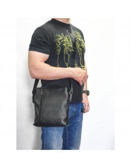 Черная мужская кожаная сумка формата А4 VATTO MK79 F8KAZ1