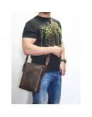 Фотография Коричневая большая сумка на плечо из винтажной кожи VATTO MK79 KR450