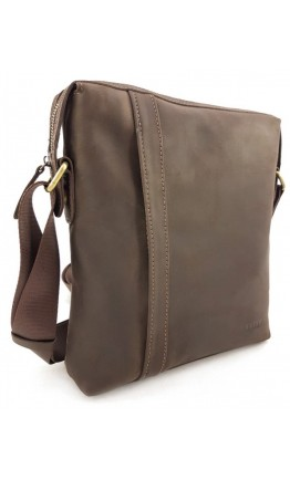 Коричневая большая сумка на плечо из винтажной кожи VATTO MK79 KR450
