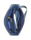 Фотография Синяя большая сумка на плечо из винтажной кожи VATTO MK79 KR600