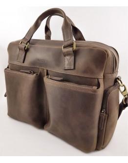 Коричневая винтажная мужская вместительная сумка VATTO MK84 KR450