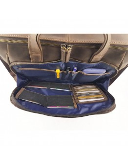 Мужская коричневая сумка для ноутбука и документов VATTO MK85 KAZ400