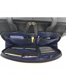 Мужская черная винтажная сумка для ноутбука и документов VATTO MK85 KR670