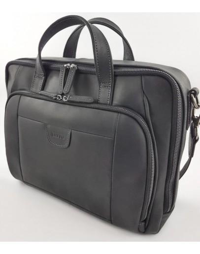 Фотография Мужская черная винтажная сумка для ноутбука и документов VATTO MK85 KR670