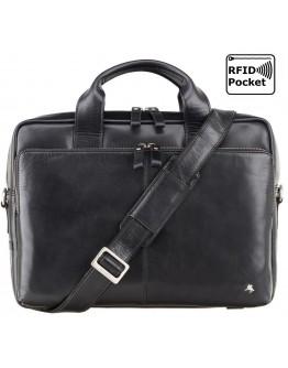 Черная мужская фирменная сумка Visconti ML30 (Black)
